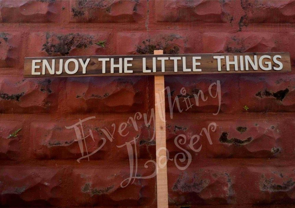 Picket sign Enjoy the little things