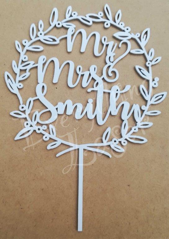 wreath Mr&Mrs