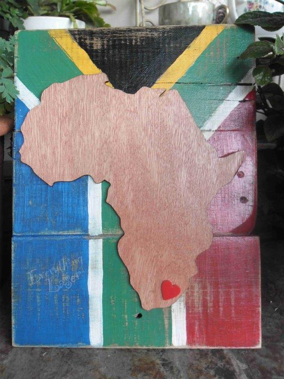 Africa love with flag